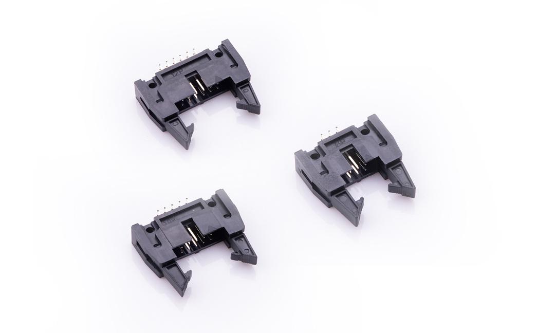 FBH25404 勾勾牛角 2.54mm 180°插件(长耳)