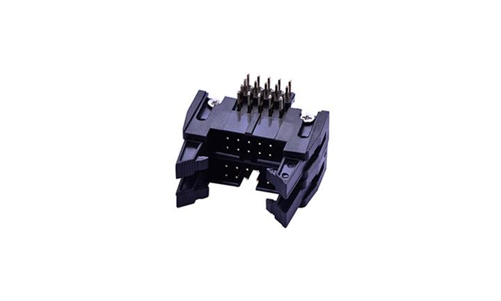 FBH25418 双层勾勾牛角 2.54mm  90° 插件 (铜螺丝)