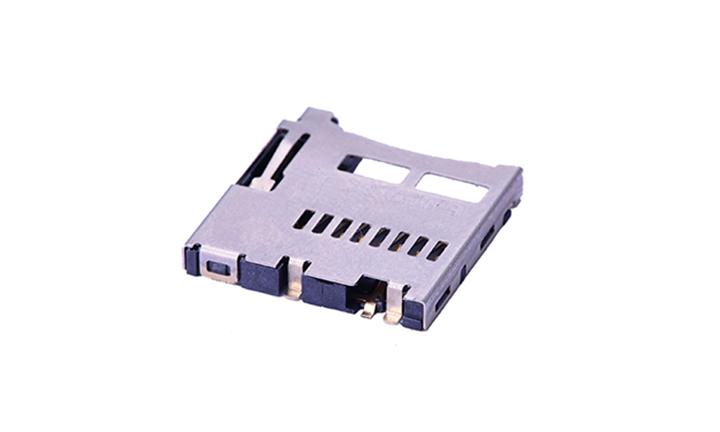 FCD407 Micro SD卡连接器 自弹式(H1.9mm)