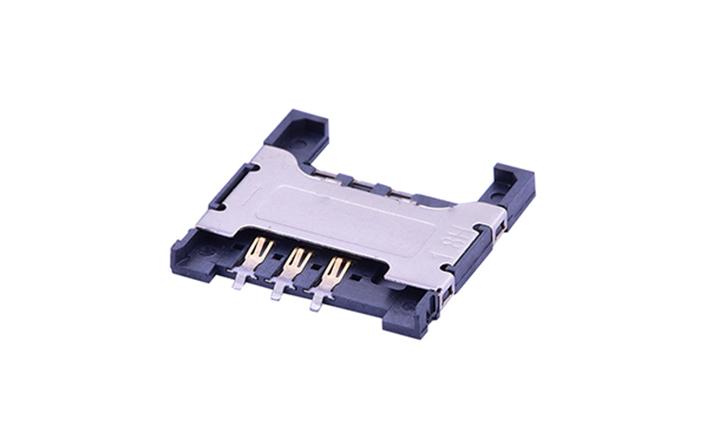 FCD505 Mini SIM卡连接器 6触点(H1.8mm)