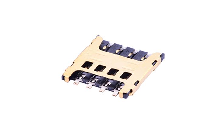 FCD526 Micro SIM卡連接器 8觸點(H1.5mm)