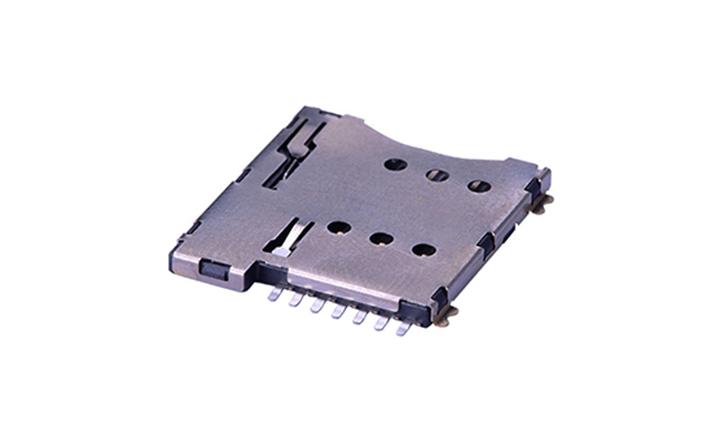 FCD708 Micro SIM卡連接器 7觸點(H1.35mm)(自彈式)