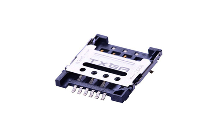 FCD711 Micro SIM卡連接器 6觸點(H1.8mm)(掀蓋式)