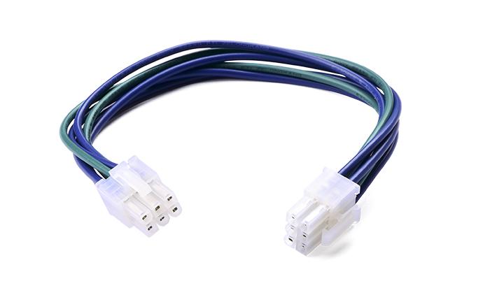 单芯电缆组件:4.2MM间距 6PIN 带扣 对 4.2MM间距 6PIN L=200mm