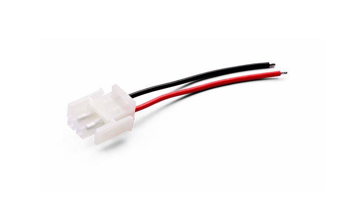 单芯电缆组件6.3MM 间距 2PIN 对 沾锡 L=80MMM 电流10A