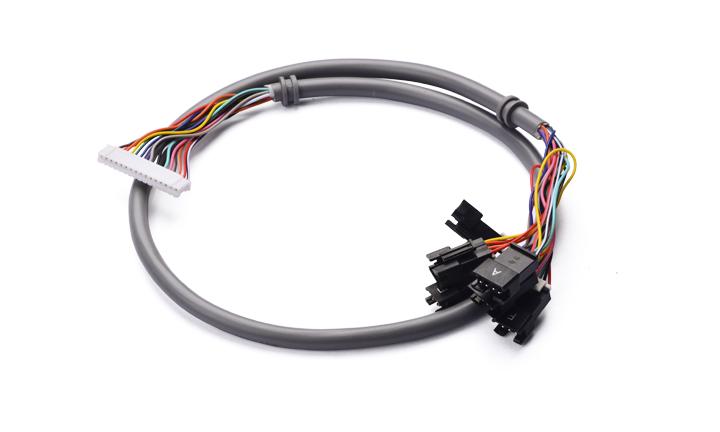 多芯电缆组件:2.0MM间距 16位 对 2.5MM间距4位/3位/2位  L=630MM
