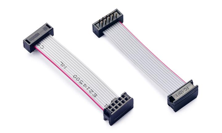 IDC连接线:IDC 2.54MM间距 10位 对 IDC 2.54MM 间距 10位 插板  L=60MM