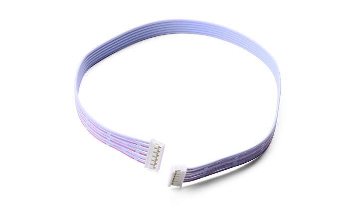 扁平电缆组件: 间距2.0MM 6P 对 间距2.0MM L=300MM