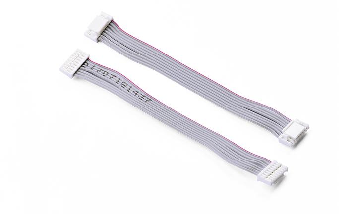 扁平电缆组件 1.25 间距 8P 带扣 对 1.25 间距 8P 带扣