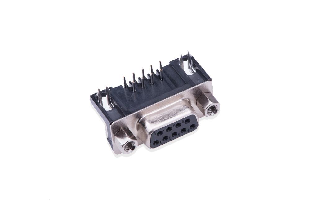 FDB0902 D-SUB 90°插件 母座 9位