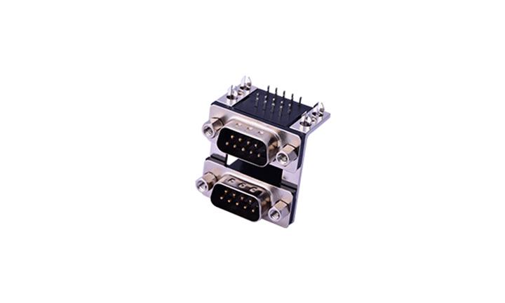 FDB1801 组合连接器 90°插件 D-SUB 9公 黑色+9公 黑色
