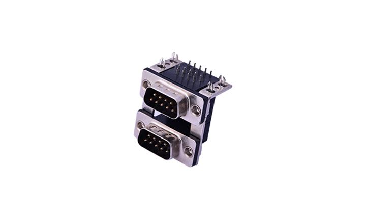 FDB1805 组合连接器 90°插件 D-SUB 9公 黑色+9公 黑色
