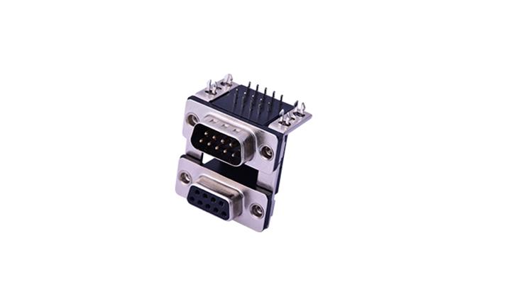 FDB1806 組合連接器 90°插件 D-SUB 9母 黑色+9公 黑色