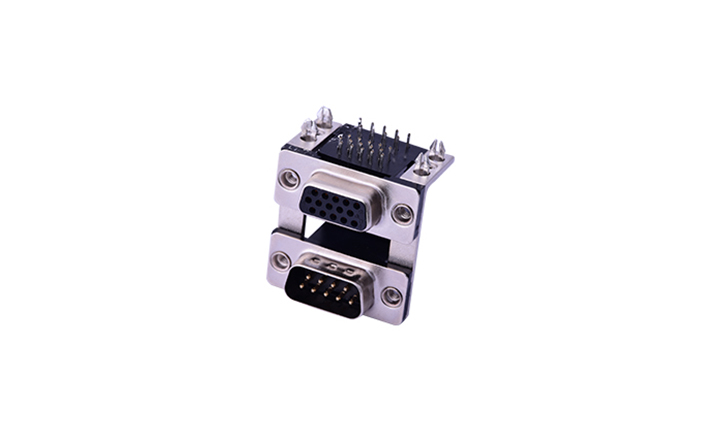 FDB2401 組合連接器 90°插件 D-SUB 9公 黑色+15母 黑色