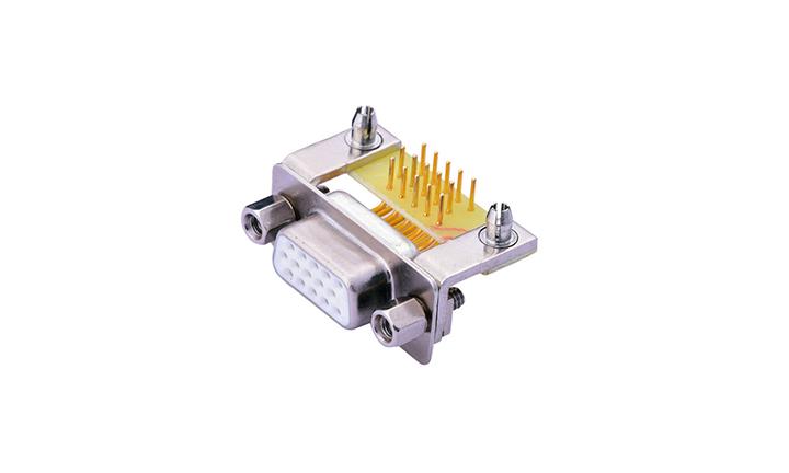 FDM1513 车针D-SUB 90°插件 三排