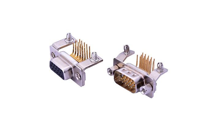 FDMXX12 车针D-SUB 90°插件 (穿孔式)