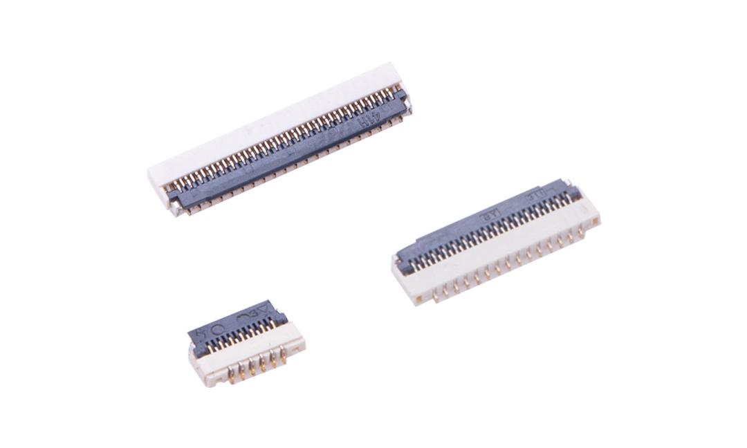 FFC03001 FPC/FFC连接器 0.3mm 卧贴下触点(H1.0)(掀锁)(金)
