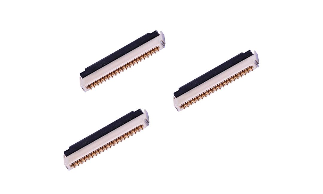 FFC03009 FPC/FFC連接器 0.3mm 臥貼雙觸點(H1.0)(后鎖)(金)