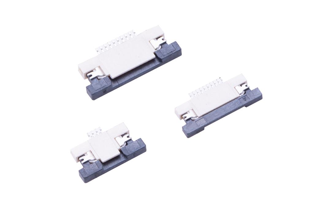 FFC05008 FPC/FFC连接器 0.5mm 卧贴上/下触点(H1.2)(抽锁)