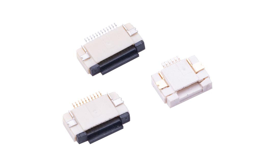 FFC05011 FPC/FFC连接器 0.5mm 卧贴下触点(H2.0)(掀锁)