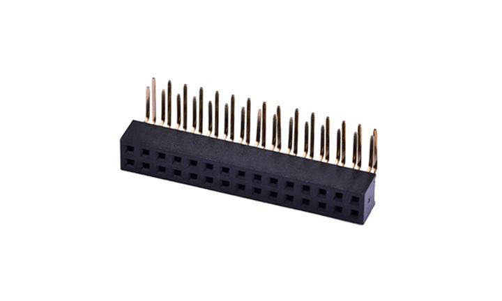 FFH20002 排母 2mm 90°插件  (H4.3mm)