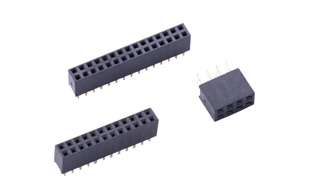 FFH20006 排母 2mm 180°插件 (H6.35mm)
