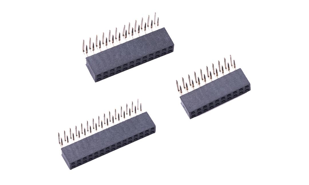 FFH20007 排母 2mm 90°插件(H6.35mm)