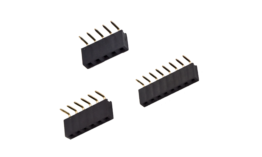 FFH25402 排母 2.54mm 90°插件