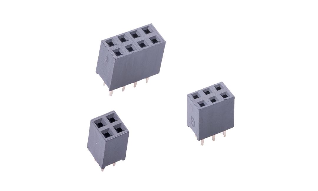 FFH25405 排母 2.54mm 180°插件 (H8.5mm)