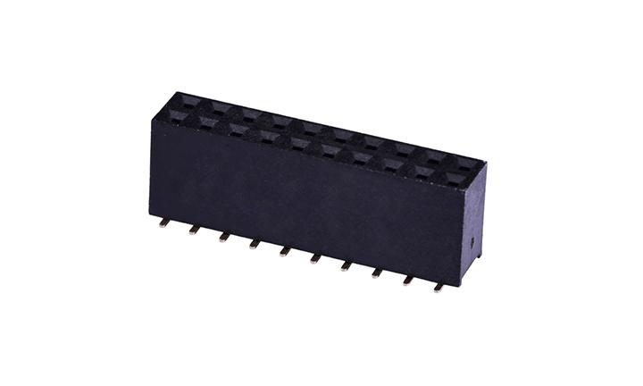 FFH25409 排母 2.54mm 立贴 双排 (H8.9mm)(有柱)