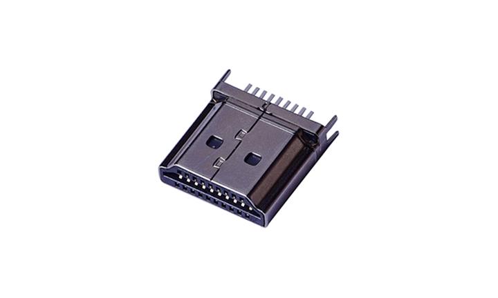 FHD08 HDMI A型 公座 180° (夹板式)