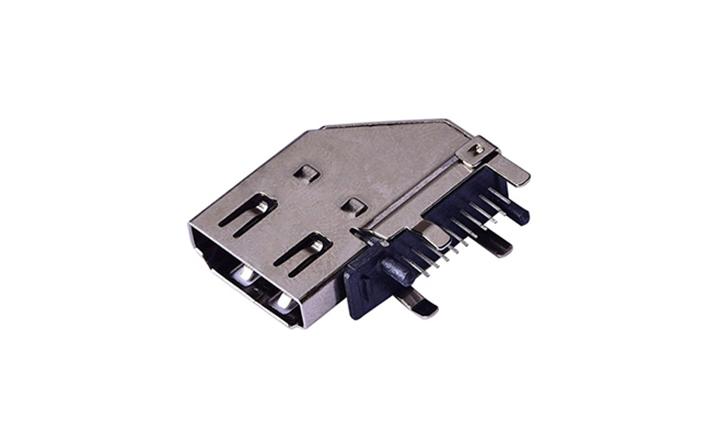FHD14 HDMI A型 侧插件90°母座(穿孔式)