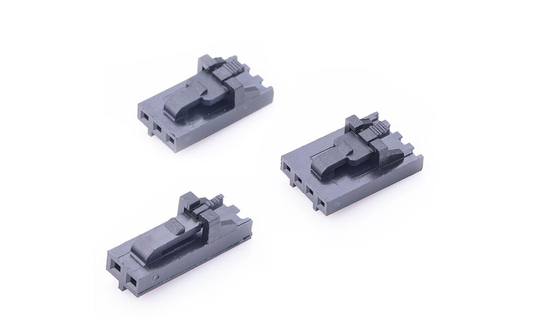 FHG25402 线端插头胶壳 2.54mm (黑色)(带锁扣)