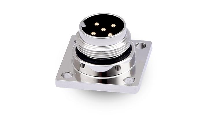 FM16-05MS003-0201 M16 防水圆形连接器5位,插座