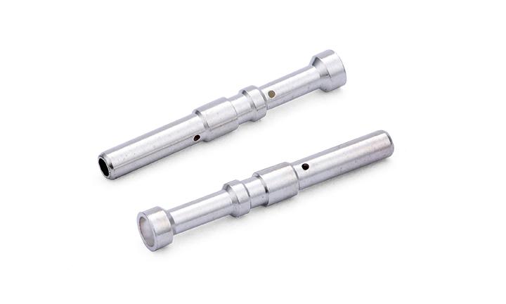 """FMT024 车针母端子: 压接式 ?3.7X26.05mm,镀银50u"""",配?2.0公端子"""