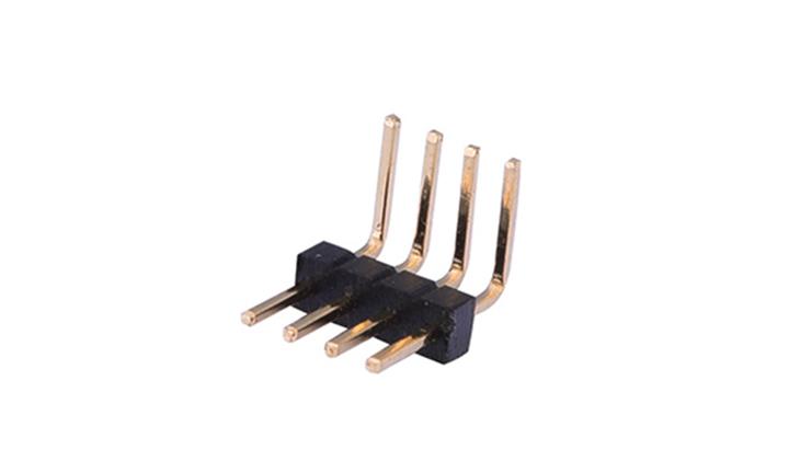 FPH10007 排针 1mm  90°插件 单排