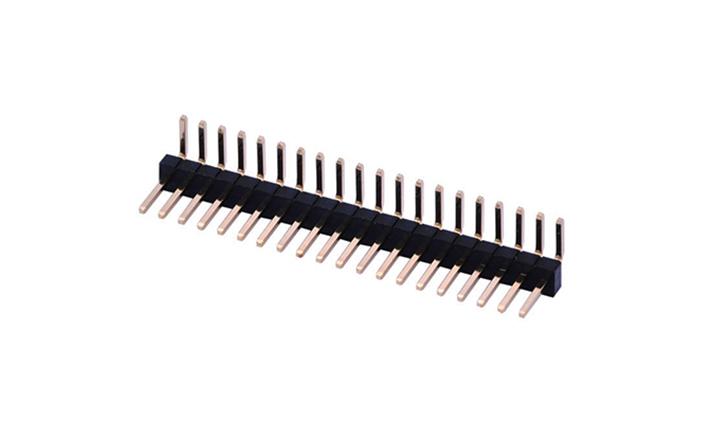 FPH12702 排针 1.27mm  90°插件 单排