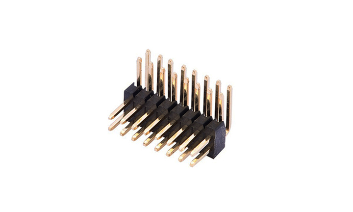 FPH12722 排针 1.27mm 90°插件 双排