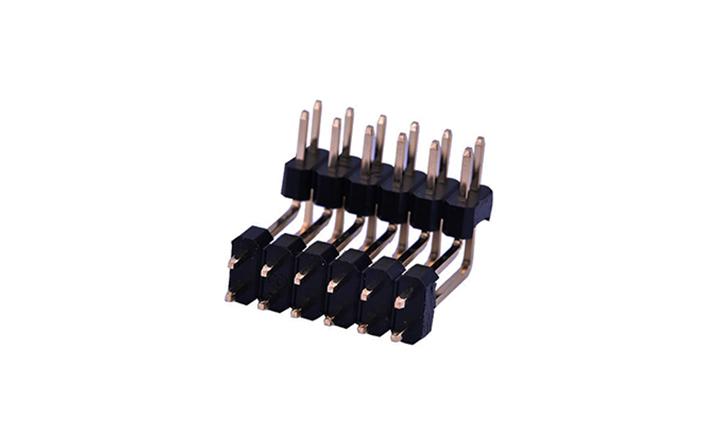 FPH25434 排针 2.54mm 90°插件 双排 双塑