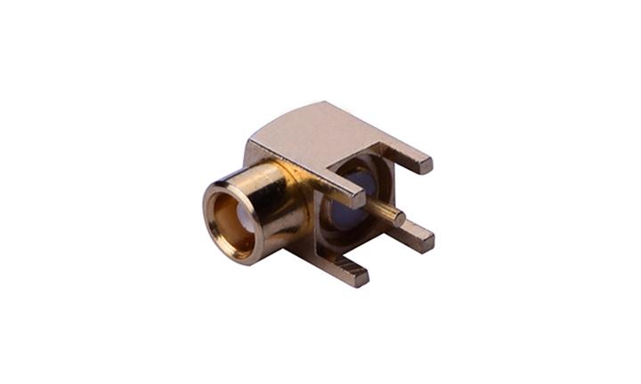 FRF03001 RF MCX  90° 插座(穿孔式)