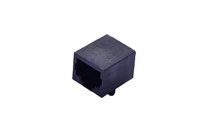 FRJ45001 RJ45连接器  10P8C 90°插件 单口