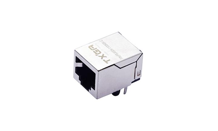 FRJ45004 RJ45连接器 8P8C 90°插件 单口