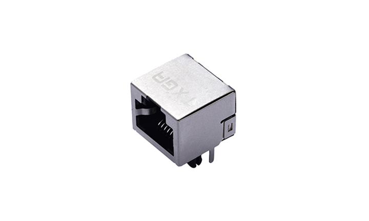 FRJ45006 RJ45连接器  8P8C 90°插件 单口