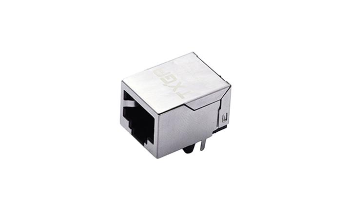 FRJ45008 RJ45连接器  8P8C 90°插件 单口 100Base-T