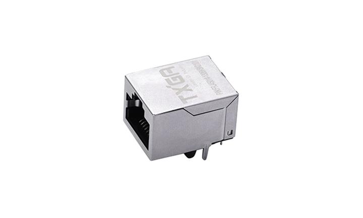 FRJ45014 RJ45连接器 8P8C 90°插件 单口 100Base-T