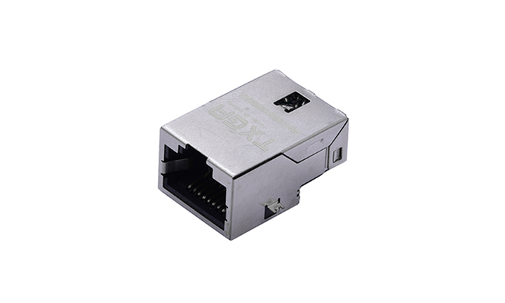 FRJ45016 RJ45连接器 6P6C 卧贴 单口 100Base-T(沉板)