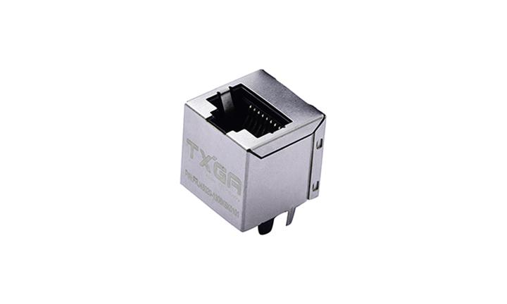 FRJ45020 RJ45连接器 8P8C 180°插件 单口 100Base-T