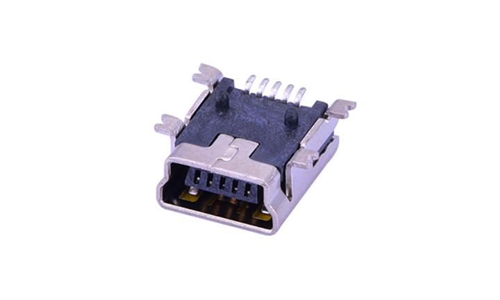 FUS101 Mini USB 卧贴 5触点 母座