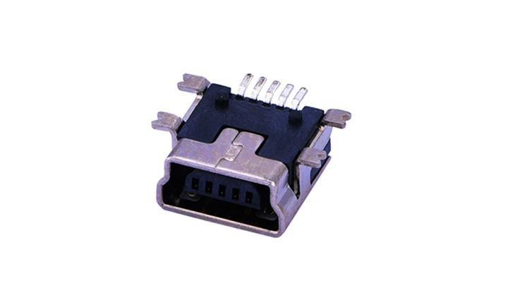 FUS116 Mini USB 卧贴 5触点 母座(短体)
