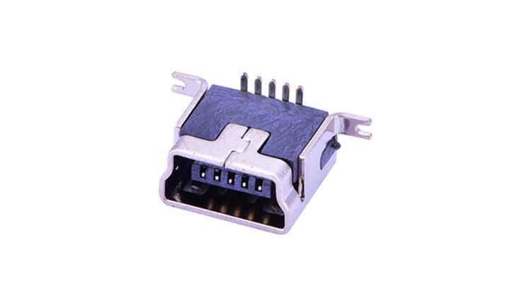 FUS128 Mini USB 卧贴 5触点 母座